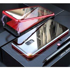Husa 360 Magnetica cu Sticla fata + spate pentru Galaxy S9 Red
