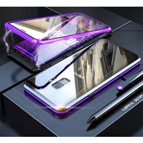 Husa 360 Magnetica cu Sticla fata + spate pentru Galaxy S9 Purple