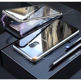 Husa 360 Magnetica cu Sticla fata + spate pentru Galaxy S9 Silver