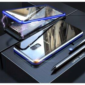 Husa 360 Magnetica cu Sticla fata + spate pentru Galaxy S9 Plus Blue