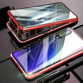 Husa 360 Magnetica cu Sticla fata + spate pentru Huawei P20 Pro Red