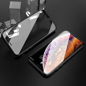 Husa 360 Magnetica cu Sticla fata + spate pentru iPhone XR Black