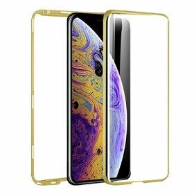 Husa 360 Magnetica cu Sticla fata + spate pentru iPhone XS MAX Gold