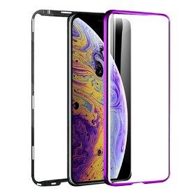 Husa 360 Magnetica cu Sticla fata + spate pentru iPhone XS MAX Purple
