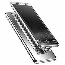 Husa 360 Mirror pentru Huawei P20 Lite (2018) Silver