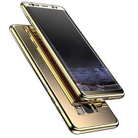 Husa 360 Mirror pentru Huawei P20 Lite (2018) Gold
