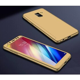 Husa 360 pentru Galaxy A8 Plus (2018) Gold