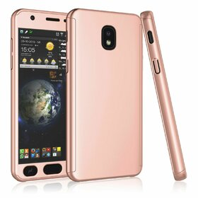 Husa 360 pentru Galaxy Grand Prime Pro (J250FD - J2 Pro 2018) Rose Gold