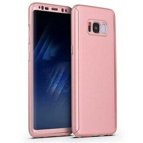 Husa 360 pentru Galaxy S8 Rose Gold