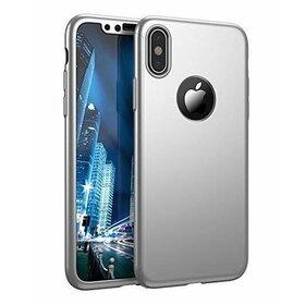 Husa 360 pentru iPhone X Silver