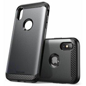 Husa 360 Supcase UNICORN BEETLE NEO + Folie Ecran pentru iPhone XS Max Black