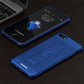 Husa Air cu perforatii si inel pentru iPhone 7 Blue