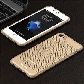 Husa Air cu perforatii si inel pentru iPhone 7 Gold