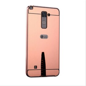 Husa Aluminium Mirror pentru LG K8 (2016) Rose Gold