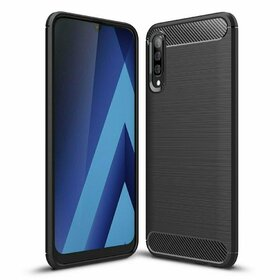 Husa Carbon din TPU flexibil pentru Samsung Galaxy A50 Black