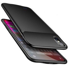 Husa cu baterie externa Slim pentru iPhone XS Max Black
