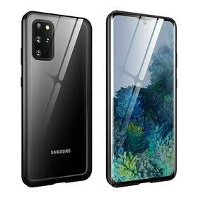 Husa cu Bumper Magnetic si Spate din Sticla Securizata pentru Galaxy A51 Black