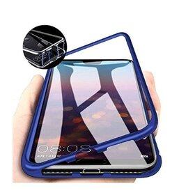 Husa cu Bumper Magnetic si Spate din Sticla Securizata pentru Galaxy A51 Blue