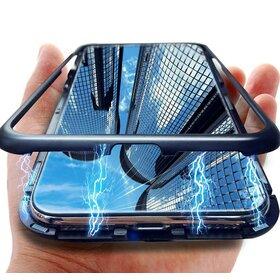 Husa cu Bumper Magnetic si Spate din Sticla Securizata pentru Galaxy A7 (2018)