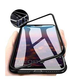 Husa cu Bumper Magnetic si Spate din Sticla Securizata pentru Galaxy A70 Black