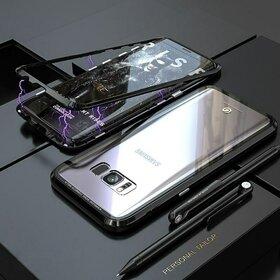 Husa cu Bumper Magnetic si Spate din Sticla Securizata pentru Galaxy S8 Black