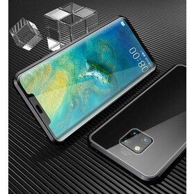 Husa cu Bumper Magnetic si Spate din Sticla Securizata pentru Huawei Mate 20