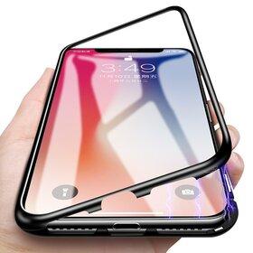 Husa cu Bumper Magnetic si Spate din Sticla Securizata pentru iPhone 6/6s Blue