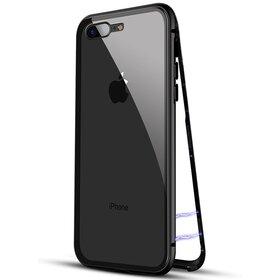 Husa cu Bumper Magnetic si Spate din Sticla Securizata pentru iPhone 7+/ iPhone 8+