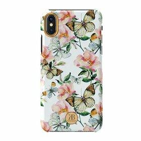 Husa cu Cristale Swarovski - Kingxbar Blossom Series pentru iPhone X/XS White