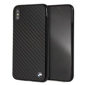 Husa cu Emblema BMW din carbon pentru iPhone Xs Max