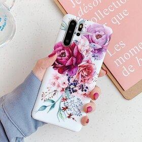 Husa cu model floral pentru Huawei P30 Lite Purple