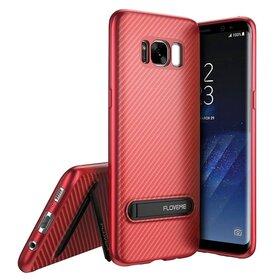 Husa cu Stand Carbon Fiber pentru Galaxy S8 Plus