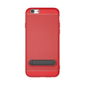 Husa cu Stand Carbon Fiber pentru iPhone 7/ iPhone 8 Red