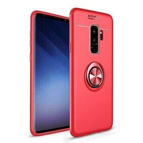 Husa din silicon cu inel magnetic rotativ pentru Galaxy A9 (2018) Red