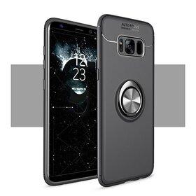 Husa din silicon cu inel magnetic rotativ pentru Galaxy S8