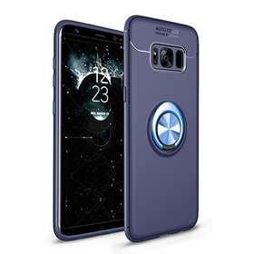 Husa din silicon cu inel magnetic rotativ pentru Galaxy S8 Plus