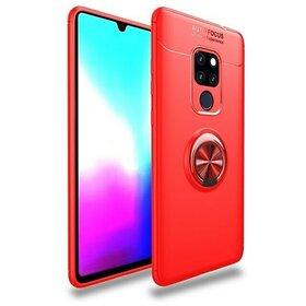 Husa din silicon cu inel magnetic rotativ pentru Huawei Mate 20 Red