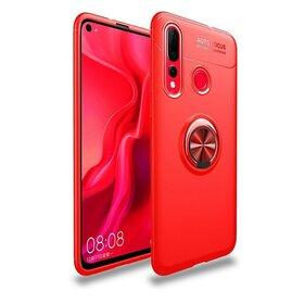 Husa din silicon cu inel magnetic rotativ pentru Huawei P Smart (2019)