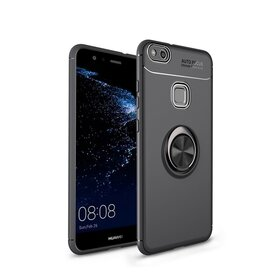 Husa din silicon cu inel magnetic rotativ pentru Huawei P10 Lite Black