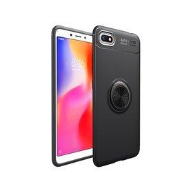 Husa din silicon cu inel magnetic rotativ pentru Huawei Y5 (2018) Red