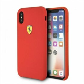Husa Ferrari din silicon pentru iPhone X/ iPhone XS Red