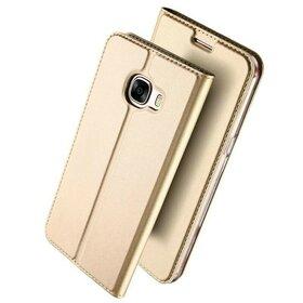 Husa Flip DUX pentru Galaxy A3 (2017) Gold