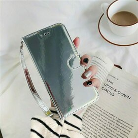 Husa Flip Mirror 3D pentru Galaxy A51 Silver