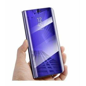 Husa Flip Mirror pentru Galaxy A40 Purple