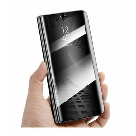 Husa Flip Mirror pentru Galaxy J7 (2018) Black