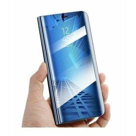 Husa Flip Mirror pentru Galaxy J7 (2018) Blue