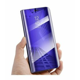 Husa Flip Mirror pentru Galaxy J8 (2018) Purple