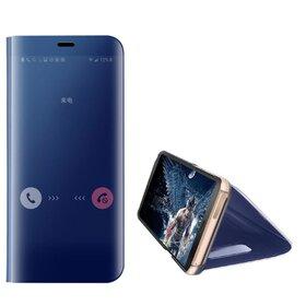 Husa Flip Mirror pentru Galaxy S7 Blue