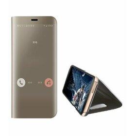 Husa Flip Mirror pentru Huawei Mate 30 Pro Gold
