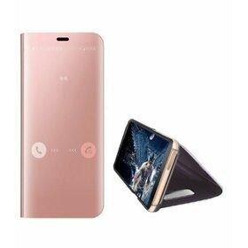 Husa Flip Mirror pentru Huawei Mate 30 Pro Rose Gold